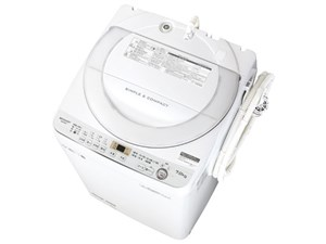 シャープ SHARP 全自動洗濯機 幅56.5cm 7kg ステンレス穴なし槽 ホワイト系 E・・・