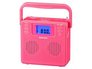 オーム電機 ステレオCDラジオ(ピンク) RCR-500Z-P