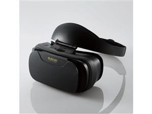 エレコム VRグラス(簡単快適装着タイプ ブラック) P-VRGSB01BK