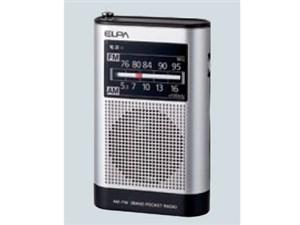 ELPA エルパ AM/FMポケットラジオ ER-P66F 1台 4901087217403