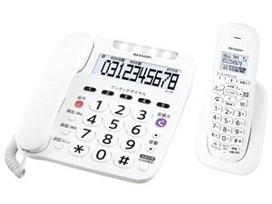 シャープ【SHARP】デジタルコードレス電話機 子機1台付き ホワイト系 JD-V38C・・・