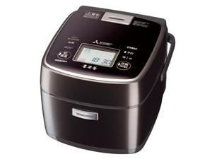 三菱電機 MITSUBISHI IHジャー炊飯器 3.5合炊き 本炭釜 炊飯器 一人暮らし 黒・・・