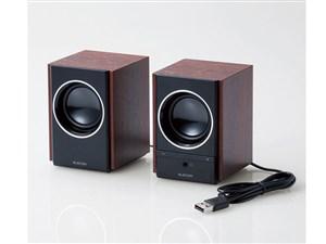 エレコム 木のスピーカ-/5W/USB電源/ブラック MS-W13UBK