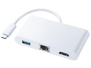サンワサプライ USB Type C-HDMIマルチ変換アダプタ with LAN AD-ALCMHL