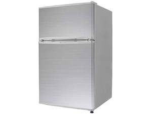 2ドア冷蔵庫 冷凍冷蔵庫 90L  (冷凍室26L/冷蔵室64L) TH-90L2-SL シルバー 小・・・