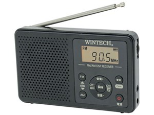WINTECH アラーム時計機能搭載 AM/FMデジタルチューナーラジオ DMR-C620