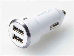 エレコム USB2ポート(Type-A) カーチャージャー/シガーソケットチャージャー ・・・