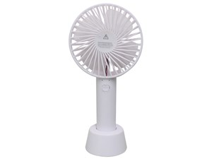【HIRO】コンパクト・3段階風量調整OK! ストラップ付き 2WAY Handy Fan(ハンディファン) DLFS19012WH ホワイト 商品画像1:ALLONE TOKYO