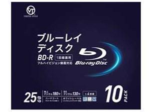 VERTEX BD-R 1回録画用 地上デジタル約180分 1-4倍速 10P インクジェットプリ・・・