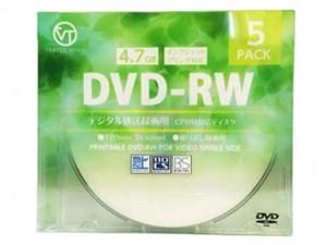 VERTEX DVD-RW(Video with CPRM) 繰り返し録画用 120分 1-2倍速 5P インクジ・・・