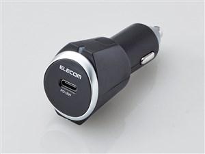 エレコム シガーチャージャー USBポート×1 急速充電 PowerDelivery認証 車で・・・