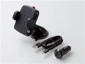 エレコム 車載ホルダー ワイヤレス充電器 ( Qi規格対応 ) 5W出力 シガーソケ・・・