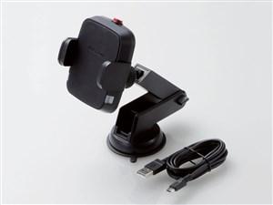 エレコム 車載ホルダー ワイヤレス充電器 ( Qi規格対応 ) 5W 出力 吸盤 ロン・・・