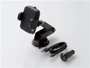 エレコム 車載ホルダー ワイヤレス充電器 ( Qi規格対応 ) 5W 出力 シガーソケ・・・