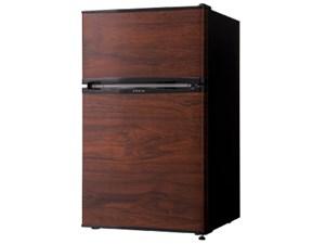 simplus 2ドア冷蔵庫 90L SP-90L2-WD ダークウッド