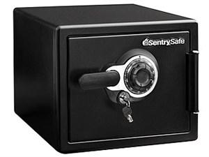セントリーSentry耐火・耐水金庫1時間耐火ダイヤル式鍵2本付きブラックJFW082・・・