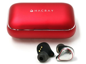 ●お取寄せ HR16370 HACRAY TRUE WIRELESS EARPHONE W1 レッド