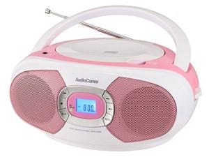 オーム電機 CDラジオ(ピンク) RCR-220N-P