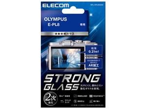 エレコム デジカメ 液晶保護フィルム ガラス オリンパス E-PL8 DFL-OPL8GG02