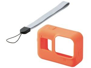 エレコム GoPro HERO8 BLACK シリコンケース ハンドストラップ オレンジ AC-G・・・