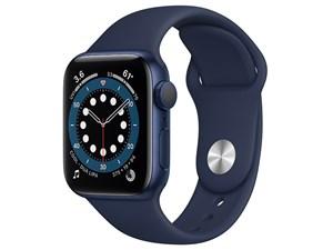Apple Watch Series 6 GPSモデル 40mm MG143J/A [ディープネイビースポーツバ・・・