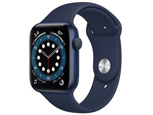 Apple Watch Series 6 GPSモデル 44mm M00J3J/A [ディープネイビースポーツバ・・・