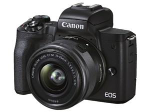 CANON キヤノン ミラーレス一眼レフカメラ ブラック EOS Kiss M2 EF-M15-45 I・・・