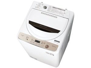 シャープ SHARP 全自動洗濯機 6 kg ブラウン ES-GE6E-T