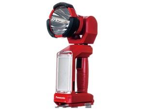 パナソニック 工事用 充電LEDスポットワイドライト EZ37C6X -R レッド 本体の・・・