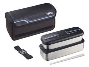 サーモス フレッシュランチボックス シンプルなデザインステンレス製弁当箱 D・・・