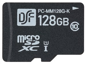 オーム電機 マイクロSDXCメモリーカード(CLASS10/128GB) PC-MM128G-K